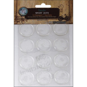 Vintage Collection Epoxy Dots 2.5cm 12/Pkg-Round