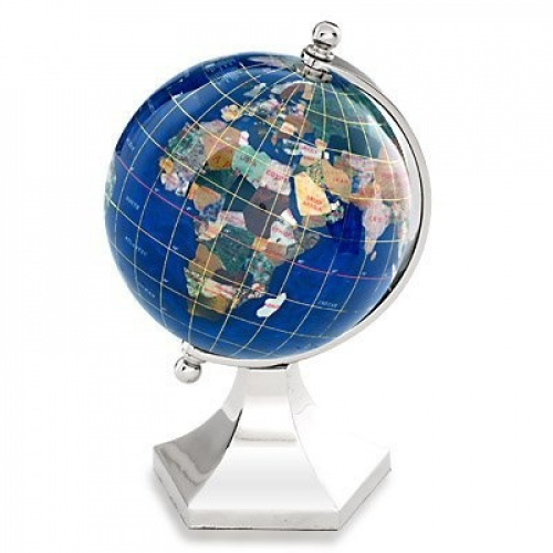 kalifano glp110bs cb 4 inch gemstone globe with