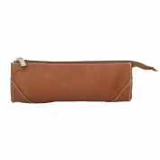 Piel Leather 2583 Brush Pencil Bag- Saddle