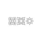 Sten Source 298204 Quilt Stencils By Barbara Chainey-13cm . C. L. Loopy Heart Blocks 15cm . x 46cm .