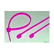 10.2cm Neon Pink Cable Ties, Qty 100