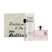 John Galliano Parlez-Moi D'amour For Her Eau de Toilette 80ml and Eau de Toilette 10ml and Body Lotion 125ml