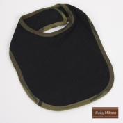 Black Bib with Green Camo Trim by Baby Milano.