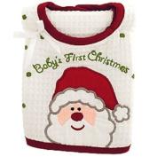 Baby's First Christmas Bib & Burp Cloth Set