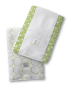 SwaddleDesigns Mod Circle Set of 2 Baby Burpies