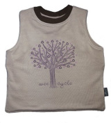 Waterproof Reversible T-Bib Made in the USA from Eco-friendly Bamboo and Organic Cotton