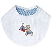 Jacaranda Living Baby Bib, Teddy Racing Boat