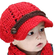 LOCOMO Baby Infant Boy Girl Knit Crochet Rib Beanie Brim Hat Cap Warm FBA007