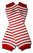 Precious Eggs Unisex-Baby C. Mini Stripes Leg Warmer Red & White