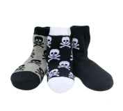 Born To Love Baby Boy's Organic Cotton Skull Sock Set