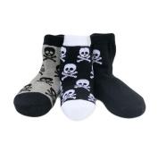 Born To Love Baby Boy's Organic Cotton Skull Sock Set