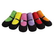 JazzyToes Bright Mary Janes Baby Socks
