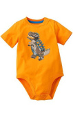 Orange Dinosaur Bodysuit 12 Months