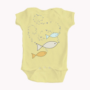 Baby Fish and Bubbles Yellow Romper