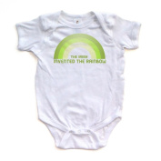 The Irish Invented the Rainbow - St Patricks - White Short Sleeve Baby Bodysuit