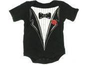 Wild Child By Bon Bebe Infant Tuxedo One-pc Bodysuit