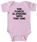 THE FORCE IS STRONG WITH THIS ONE - STAR WARS - BABY ONESIE