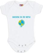 """""""Welcome to My World"""" White Bodysuit/Onesie"""
