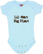 """Lil' Man, Big Plan"" - Blue Bodysuit/Onesie"