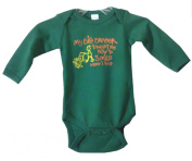 My Brother Taught me to Smile when I poot, Green Long Sleeve, Medium 3-6M