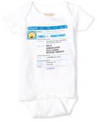 Sara Kety Baby-boys Newborn Babybook Infant Bodysuit