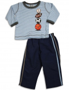 Mis Tee V-Us - Infant Boys Long Sleeve Striped Pant Set