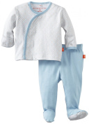Magnificent Baby-Boys Newborn Long Sleeve Kimono Top And Pant Set