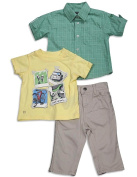Kenneth Cole Reaction - Infant Boys 3 Piece Short Sleeve Pant Set