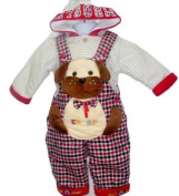 Kids Outfit with Puppy Applique Size 12 -18months