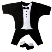 Black and White Baby Tuxedo Suit