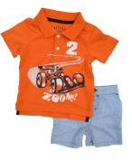 Greendog Boys Polo and Stripped Shorts Sets