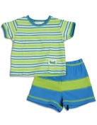Cloud Mine - Newborn And Infant Boys Short Sleeve Stripe Short Set