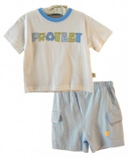 """Organic Cotton Boys """"Protect Recycling"""" Toddler 2 Piece Set by Organically Grown"""