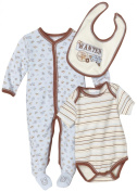 Vitamins Playwear Baby-Boys Newborn Wanted Three Piece Sleep & Play Set