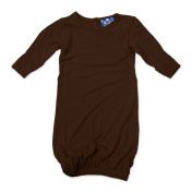 KicKee Pants Layette Gown, Bark