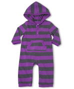 """Leveret """"Striped"""" Hooded One Piece Romper 100% Cotton Variety of Colours"""