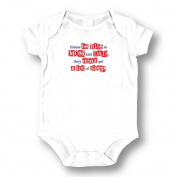 "Attitude Rompers ""Please Be Nice"" Baby Romper"