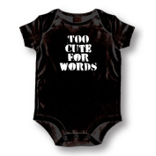 """Attitude Rompers """"Too Cute For Words"""" Baby Romper"""
