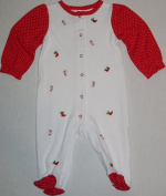 Nursery Rhyme Baby Christmas Sleeper-Footed