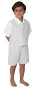 Baby and Toddler Boy Summer Cotton/Linen Blend Suit Vest Short Set