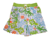 Baby Buns Infant & Toddler Boys Swim Surf Board Shorts Green Gecko and Turtle