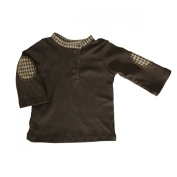 Kumquat Baby Solid Brown Henley