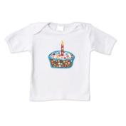 Ambajam White Short Sleeved Cupcake T-Shirt