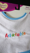 Parents choice baby bib Adorable stitch on bib