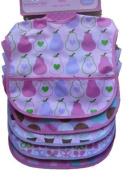 Cutie Pie Waterproof Baby Bibs Girl Colours 5 Pack Pvc Free
