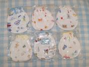 4 Pairs Cotton Newborn Baby/infant Mix Design No Scratch Mittens Gloves