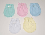 5 Pairs Mix Colour Cotton Newborn Baby/infant No Scratch Mittens Gloves 0-6 Months