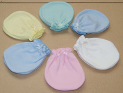 6 Pairs Cotton Newborn Baby/infant Mix Colour No Scratch Mittens Gloves 0-6 Months