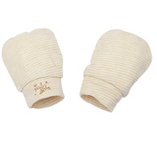 Naturecolored baby Mittens naturally coloured cotton