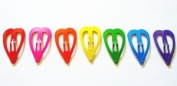 24 Pcs Cute Heart Snap Clip Size 30 Mm for Toddler Baby Mix Rainbow Colour